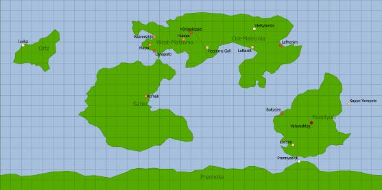 Weltkarte Sapphirias